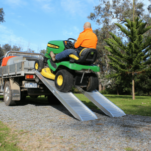 commercial aluminium loading ramps for lawn mowers